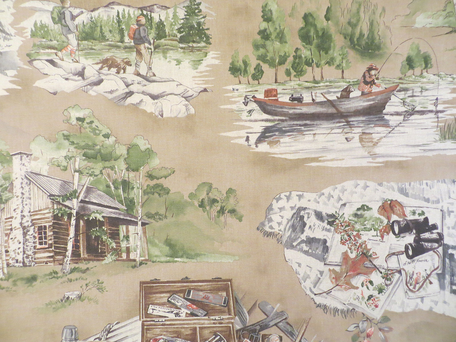 Field and stream welcome home fabric for Outdoor fishing